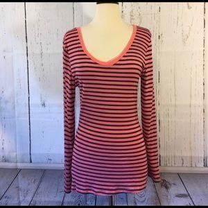 American Dream NWOT Coral n Navy T-Shirt